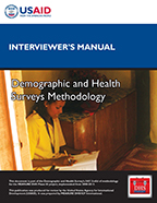 Cover of DHS Interviewer's Manual (English, French)