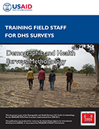 Cover of Training Field Staff for DHS Surveys (English)