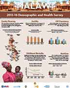 Cover of Malawi 2015-16 DHS - Wall Chart (English)