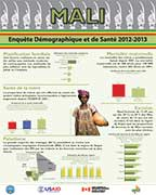 Cover of Mali DHS 2012-2013 - Wall Chart (French)