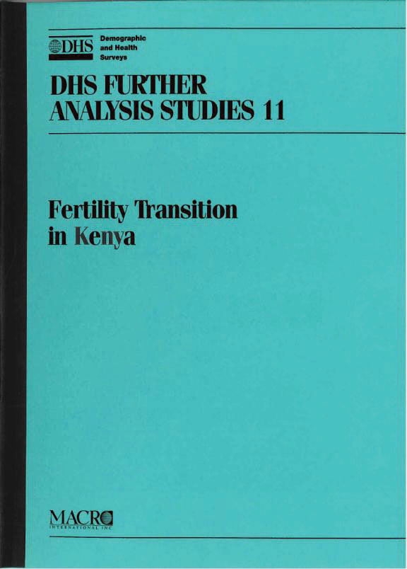 Cover of Fertility Transition in Kenya (English)