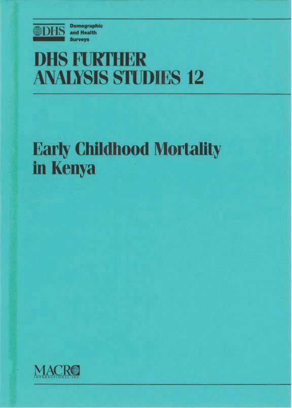 Cover of Trends, Age Patterns, and Determinants of Early Childhood Mortality in Kenya (English)