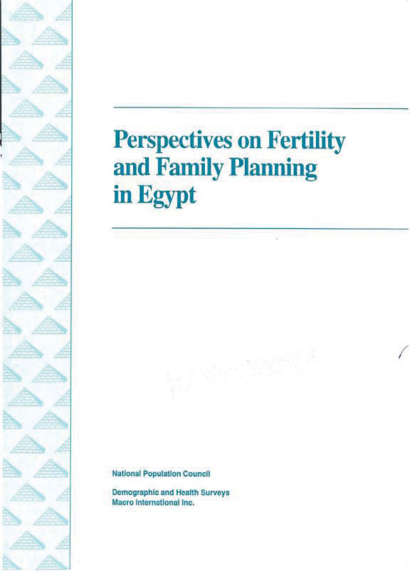 Cover of Perspectives on Fertility and Family Planning in Egypt (English)