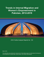 Cover of Trends in Internal Migration and Women's Empowerment in Pakistan, 2012-2018 (English)