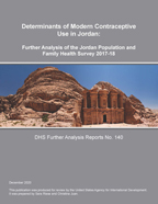 Cover of Determinants of Modern Contraceptive Use in Jordan: Further Analysis of the Jordan Population and Family Health Survey 2017-18 (English)