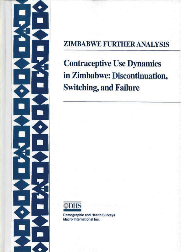 Cover of Contraceptive Use Dynamics in Zimbabwe: Discontinuation, Switching and Failure (English)