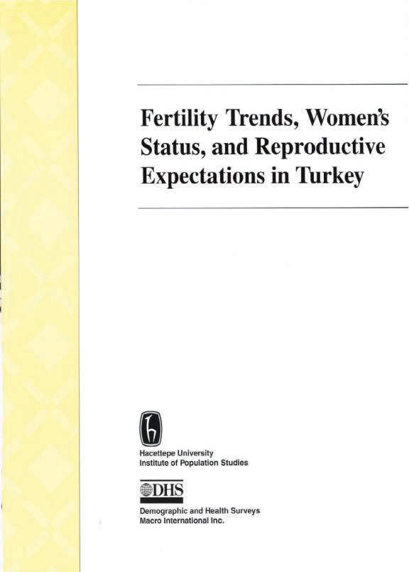 Cover of Fertility Trends, Women's Status, and Reproductive Expectations in Turkey (English)