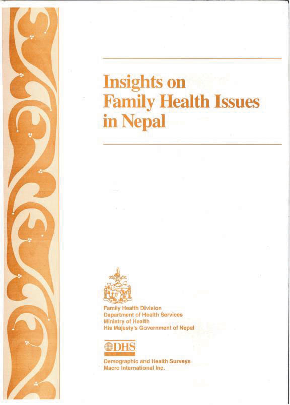 Cover of Insights On Family Health Issues in Nepal (English)