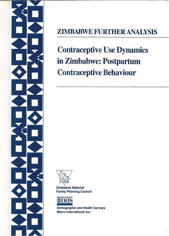 Cover of Contraceptive Use Dynamics in Zimbabwe: Postpartum Contraceptive Behaviour (English)