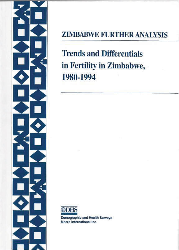 Cover of Trends and Differentials in Fertility in Zimbabwe, 1980-1994 (English)