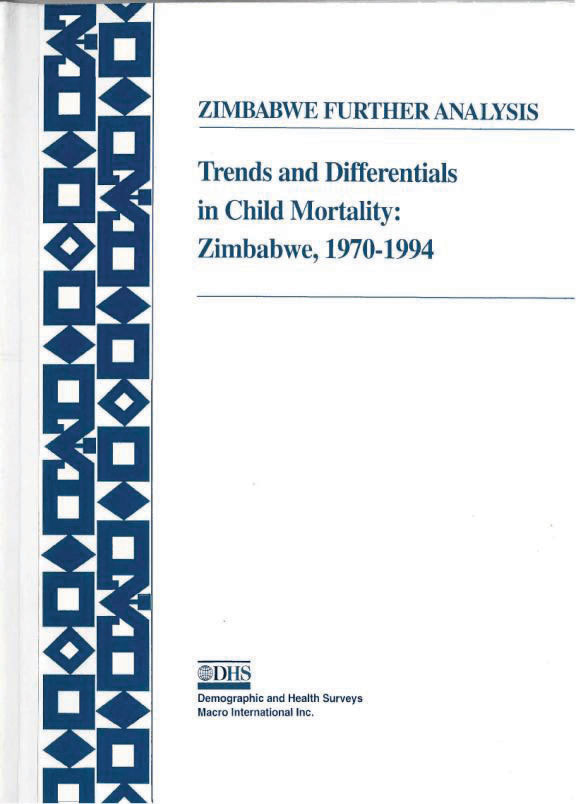 Cover of Trends and Differentials in Child Mortality: Zimbabwe, 1970-1994 (English)