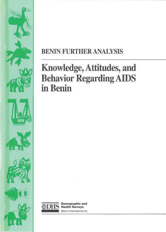 Cover of Knowledge, Attitudes and Behavior Regarding AIDS in Benin (English, French)