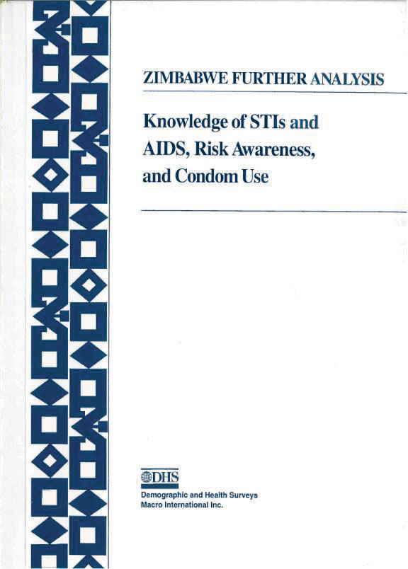 Cover of Knowledge of STIs and AIDS, Risk Awareness and Condom Use in Zimbabwe (English)