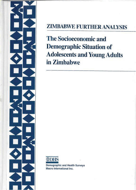Cover of The Socioeconomic and Demographic Situation of Adolescents and Young Adults in Zimbabwe (English)