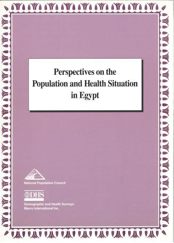 Cover of Perspectives on the Population & Health Situation in Egypt (English)