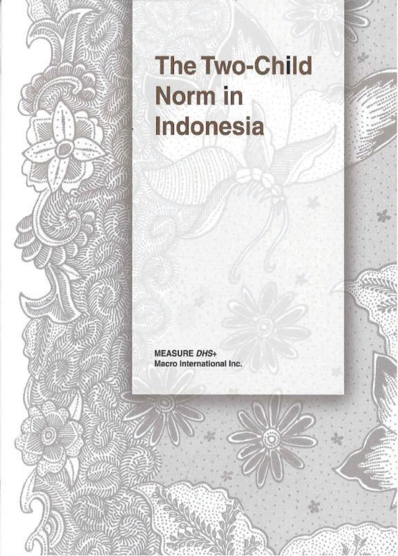 Cover of The Two-Child Norm in Indonesia (English)