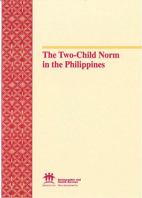 Cover of The Two-Child Norm in the Philippines (English)