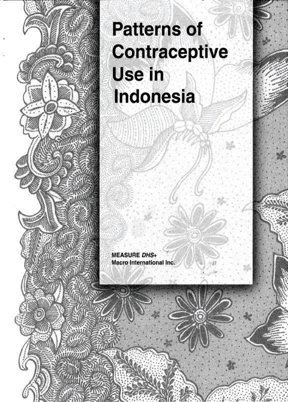 Cover of Patterns of Contraceptive Use in Indonesia (English)