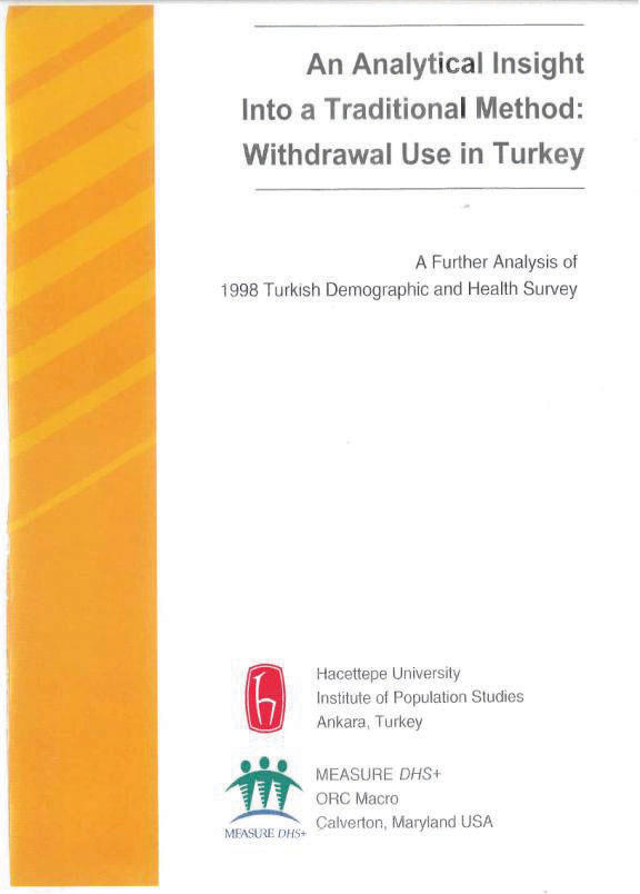 Cover of An Analytical Insight into a Traditional Method:  Withdrawal Use in Turkey (English)