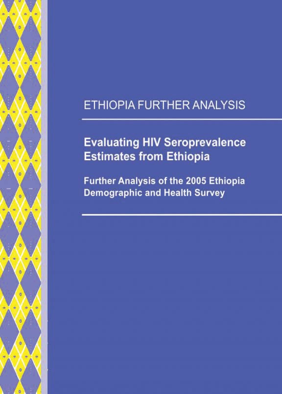 Cover of Evaluating HIV Seroprevalence Estimates from Ethiopia (English)