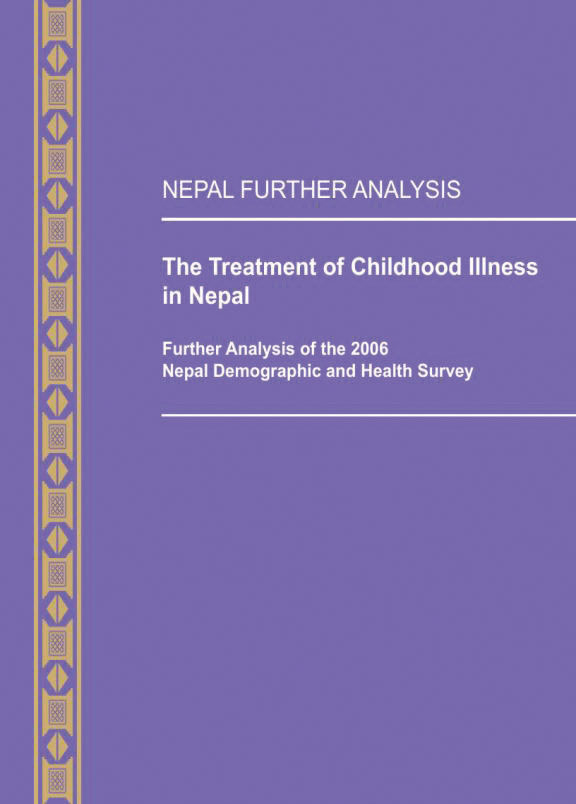 Cover of The Treatment of Childhood Illness in Nepal (English)