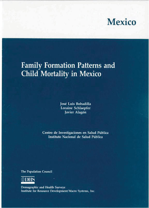 Cover of Family Formation Patterns and Child Mortality in Mexico (English)