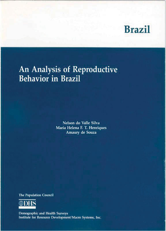 Cover of An Analysis of Reproductive Behavior in Brazil (English)