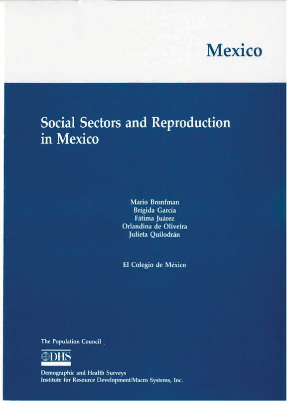 Cover of Social Sectors and Reproduction in Mexico (English)