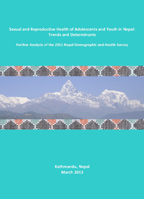 Cover of Sexual and Reproductive Health of Adolescents and Youth in Nepal: Trends and Determinants (English)