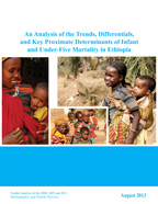 Cover of An Analysis of the Trends, Differentials and Key Proximate Determinants of Infant and Under-Five Mortality in Ethiopia (English)