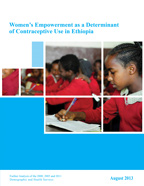 Cover of Women's Empowerment as a Determinant of Contraceptive use in Ethiopia (English)