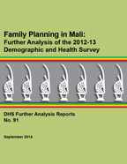 Cover of Family Planning in Mali: Further Analysis of the 2012-13 Demographic and Health Survey (English, French)