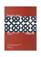 Cover of Burkina Faso DHS, 1998-99 - Final Report (French)