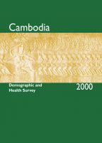 Cover of Cambodia DHS, 2000 - Final Report (English)