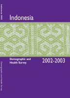 Cover of Indonesia DHS, 2002-03 - Final Report (English)