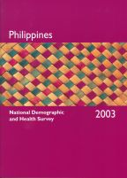 Cover of Philippines DHS, 2003 - Final Report (English)