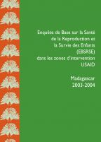Cover of Madagascar DHS, 2003-04 - EBSRSE Final Report (French)