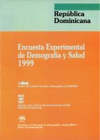 Cover of Dominican Republic DHS, 1999 - Final Report (From Experimental Survey) (Spanish)