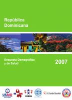 Cover of Dominican Republic DHS, 2007 - Final Report (Spanish)