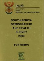 Cover of South Africa DHS, 2003 - Final Report (English)