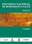 Cover of Colombia DHS, 2010 - Final Report (Spanish)
