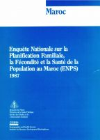 Cover of Morocco DHS, 1987 - Final Report (French)