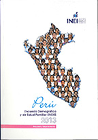 Cover of Peru DHS, 2013 - Final Report Continuous (2013) (Spanish)