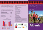 Cover of Albania DHS 2008-09 Fact Sheet (English)