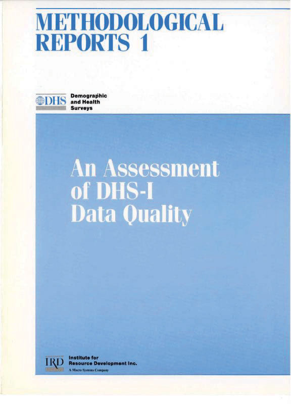 Cover of An Assessment of DHS-I Data Quality (English)