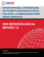 Cover of Intertemporal Comparisons of Poverty and Wealth with DHS Data: A Harmonized Asset Index Approach (English)