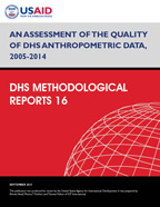 Cover of An Assessment of the Quality of DHS Anthropometric Data, 2005-2014 (English)