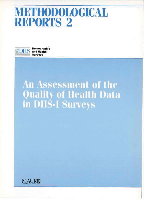 Cover of An Assessment of the Quality of Health Data in DHS-I Surveys (English)