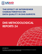 Cover of The Effect of Interviewer Characteristics on Data Quality in DHS Surveys (English)