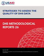 Cover of Strategies to Assess the Quality of DHS Data (English)